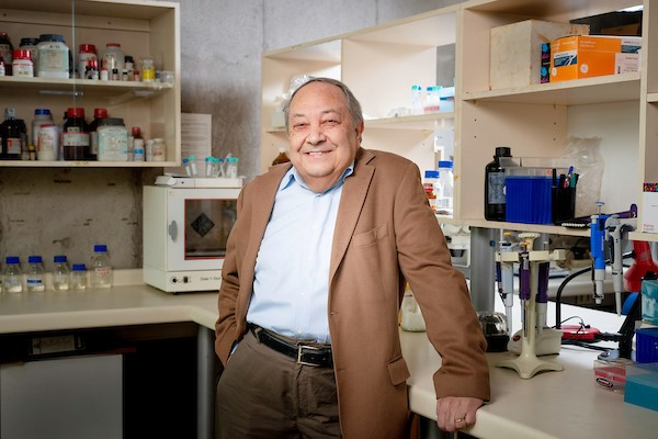 Dr. Ricardo Maccioni en su Laboratorio